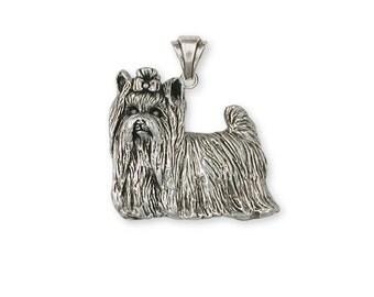 Yorkie Yorkshire Terrier Pendant Jewelry Sterling Silver Handmade Dog Pendant YK29-P