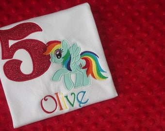 My Little Pony Birthday Shirt- Rainbow Dash or Pinkie Pie