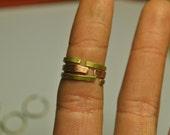 Copper Stacking Ring Hammered Copper Adjustable