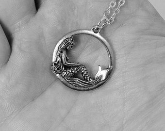 mermaid necklace charm