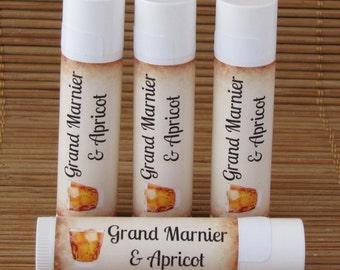 Grand Marnier and Apricot Flavored Lip Balm - Handmade All Natural Lip Balm