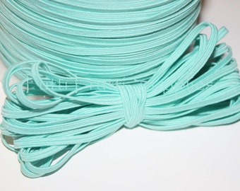 "1/8"" Skinny Elastic - AQUA Skinny Elastic -  Your Choice of 5 or 10 Yards"