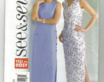 4162 See & Sew Sewing Pattern Straight Fitted Dress Ankle Length 40B 42B 44B Size 18 20 22