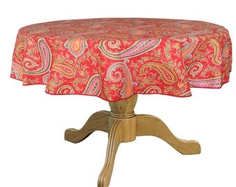 70 Inches Round Tablecloth Provence Oilcloth By