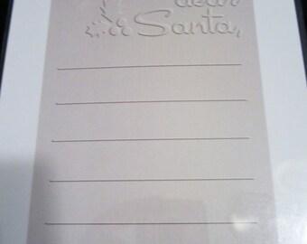 Dear Santa EF-A2-055 Christmas QuicKutz A2 Embossing Folder