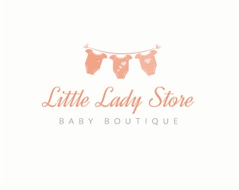 Boutique Baby Logo for Photographers - Premade Logo Design, Photography Logo, Newborn Logo, Infant Logo, Boutique Logo, Newborn Photography