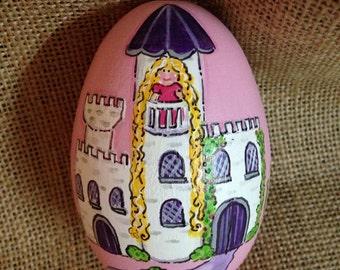 "3.25"" Princess castle easter egg, personalized egg, Easter egg"