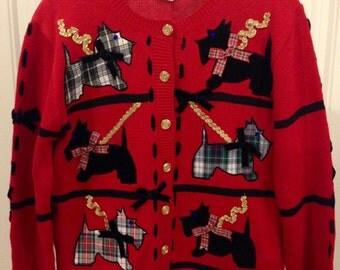 Scottie Dog Sweater_M