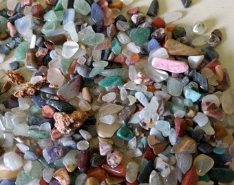 Tumbled stone chips 1.99 per 100 grams