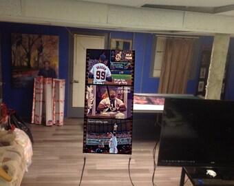 Huge! 47x21apx MAJOR LEAGUE Vinyl Banner Poster movie BASEBALL charlie  sheen Art film dvd Cleveland Indians Browns Cavaliers Wesley Snipes