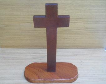 Wooden Standing Cross Statue