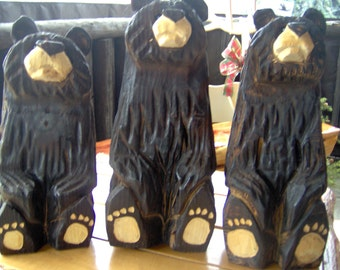 Chainsaw Carved Wood Carved Sitting Bear