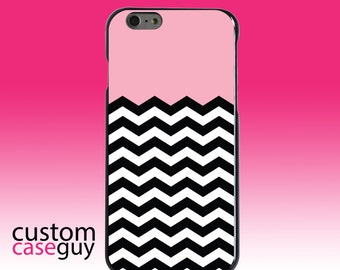 Hard Snap-On Case for Apple 5 5S SE 6 6S 7 Plus - CUSTOM Monogram - Any Colors - Black White Pink Chevron