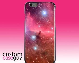 Hard Snap-On Case for Apple 5 5S SE 6 6S 7 Plus - CUSTOM Monogram - Any Colors - Horsehead Nebula Pink