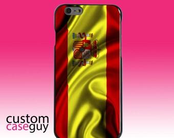 Hard Snap-On Case for Apple 5 5S SE 6 6S 7 Plus - CUSTOM Monogram - Any Colors - Spain Waving Spanish Flag