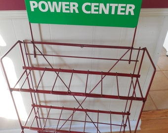 SALE....Service Station Battery Display Rack....Gas Station Garage Automotive...Advertising