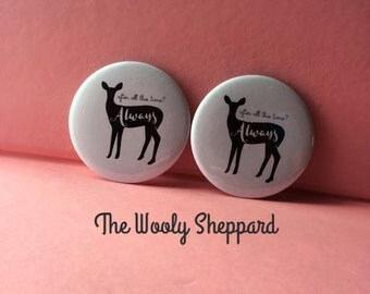 """2.25"""" pin back button (1) """"Always"""""""