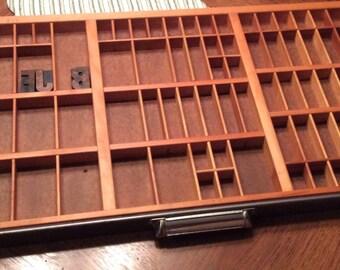 Vintage Letterpress Printers Drawer Typeset Drawer Shadow Box