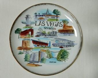 Las Vegas Souvenir Dinner Plate