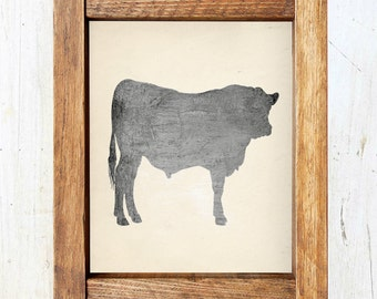 Beef Cow Silhouette Printable