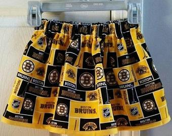 Yellow Boston Bruins skirt