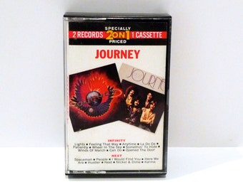 Journey Band Vintage 2 Recordings on One Cassette Tape Infinity and Next 70s Classic Rock Steve Perry Neil Schon Lights Wheel in the Sky