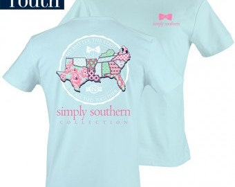 "Youth Simply Southern ""Prep Tide"" with Monogram Option"