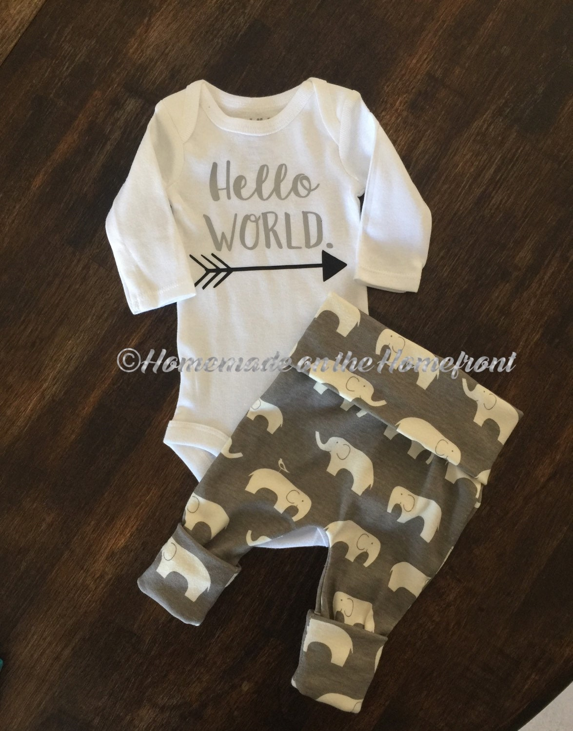 Hello World Newborn Coming Home Outfit Gender By