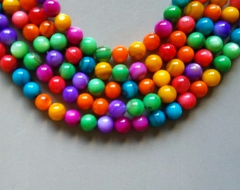 Full Strand 15inches Agate Faceted Round Beads - A519