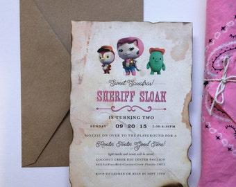 Printable, Custom Sheriff Callie Invitation
