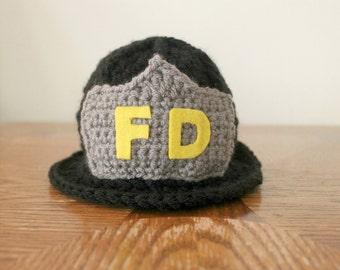 Firefighter Hat - Fireman Hat - Firefighter Prop - Newborn Prop - Baby Fireman Hat - Fireman Theme