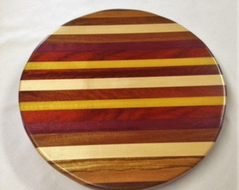 Handmade Exotic Wood Lazy Susan