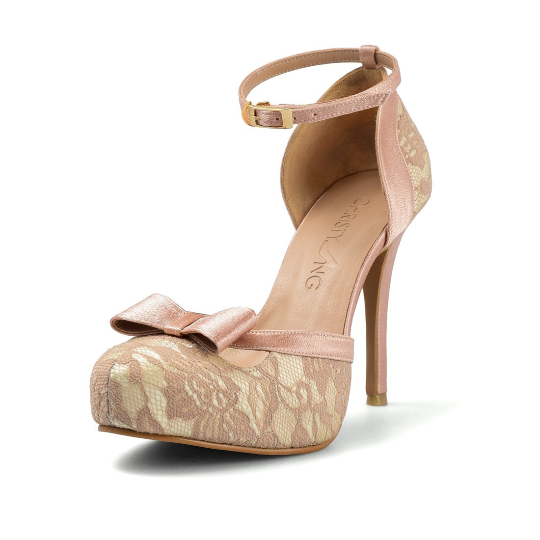 Wholesale Nude Lace Heels