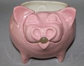 Yarn Bowl - Ceramic Yarn Pig -