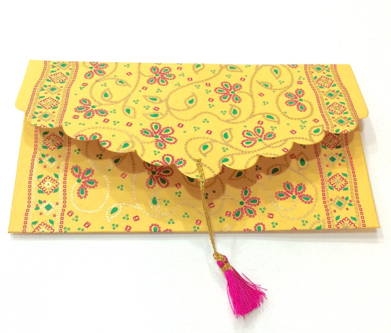Wedding Gift Cash Envelope : Set of 5 Gift Envelopes with Tassels Money Envelopes Cash