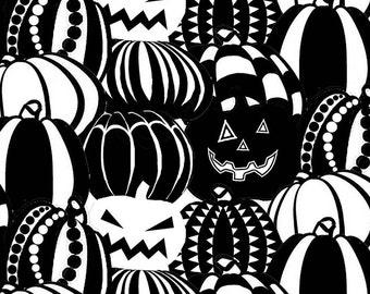 Boo Crew Glow in the Dark Halloween Fabric