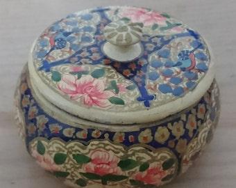 Small vintage paper mache pot