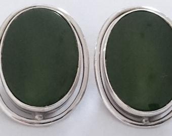 Large vintage gemstone clip-on earrings