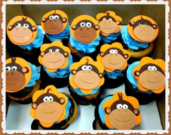 Monkey Face Cupcake Topper