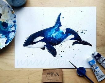 Deep Blue Space - Art Print