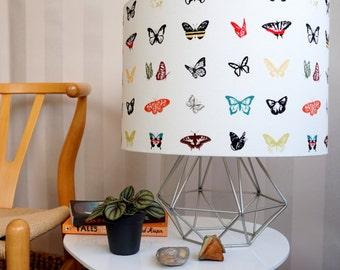 Butterfly Print Lampshade - butterflies  butterfly home - rainbow - handmade -  rainbow lighting - Butterfly decor - gift for her - new home