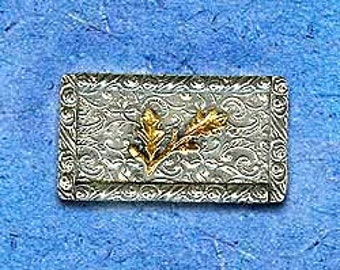 Israeli Brooch. Vintage Brooch. Antique Style Jewelry. Handmade Sterling Silver. Made in Israel. Gold Olives & Leaves.  FREE SHIPPING!
