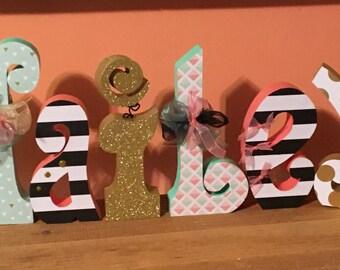 Custom wood letters. Wood letters. Nursery letters.