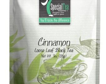3 oz. Cinnamon Loose Black Tea with Free Tea Infuser