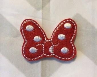 UNCUT Minnie Mouse Bow Vinyl Feltie