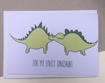 For my Lovely Dinosaur - Valentines Card
