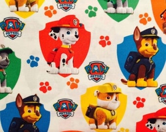 Travel Pillow Case / Child Pillow Case /  Standard Pillow Case / Paw Patrol / White / Paw Patrol Fabric
