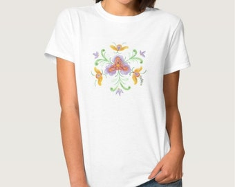 Custom Floral Rosemal T-Shirt