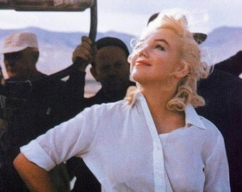 Marilyn Monroe on the set of the Misfits in 1960