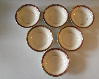 Homer Laughlin Pattern HLC3917  6 Fruit Or Dessert Bowls